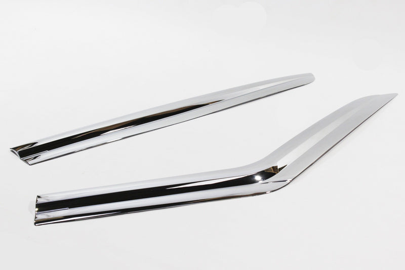 Auto Clover Chrome Wind Deflectors Set for Land Rover Discovery 3 & 4 (4 pieces)