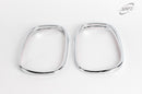 For Ssangyong Rexton 2003 - 2013 Chrome Door Wing Mirror Rings Trim Set
