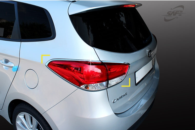 For Kia Carens 2013+ Chrome Tail Light Surrounds Trim Set