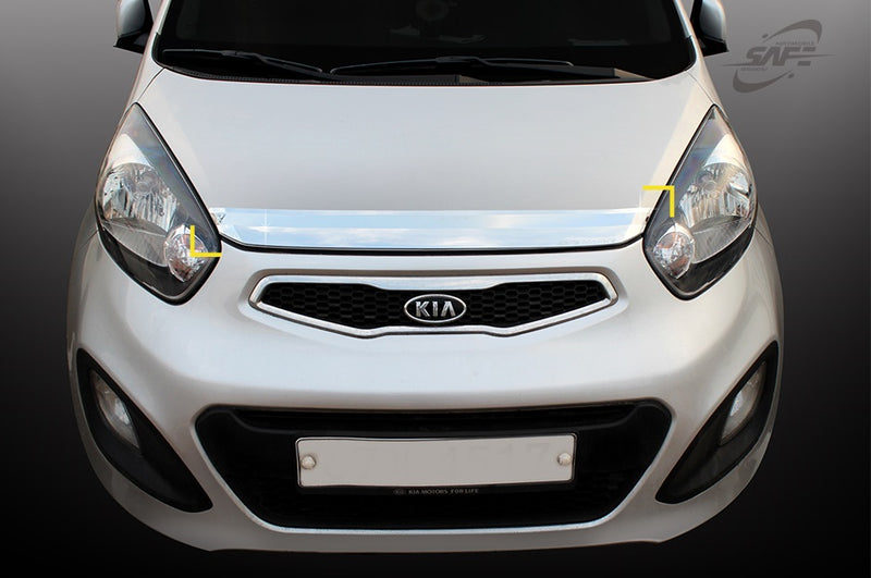 For Kia Picanto 2012 - 2016 Chrome Bonnet protector guard