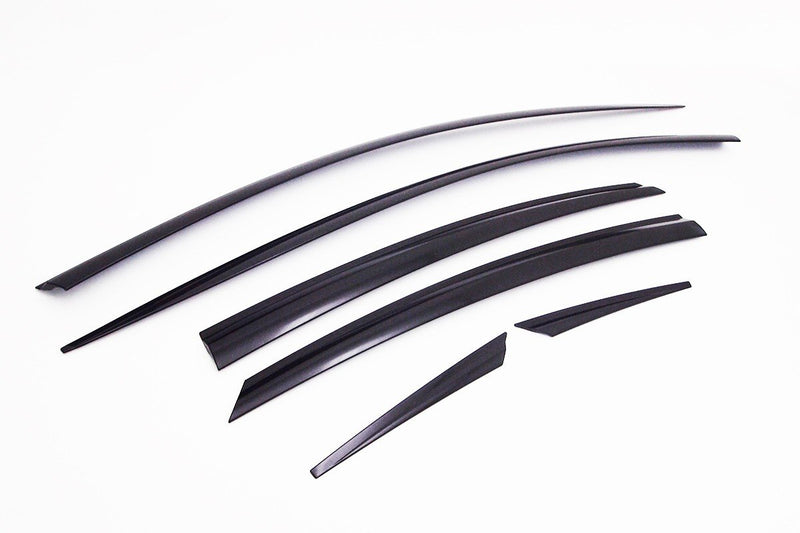 Auto Clover Wind Deflectors Set for Hyundai i40 4 door Saloon (6 pieces)