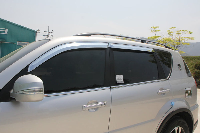 Auto Clover Chrome Wind Deflectors for Ssangyong Rexton 2003 - 2013 (4 pieces)