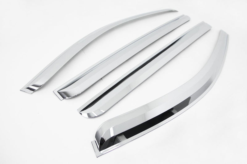 Auto Clover Chrome Wind Deflectors Set for Kia Sorento 2003 - 2009 (4 pieces)