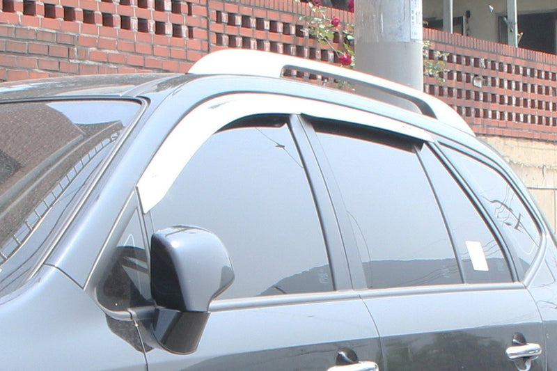 Auto Clover Chrome Wind Deflectors Set for Kia Carens 2006 - 2012 (4 pieces)