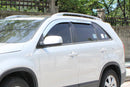 Auto Clover Chrome Wind Deflectors Set for Kia Sorento 2010 - 2014 (4 pieces)