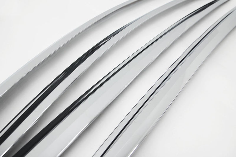 Auto Clover Chrome Wind Deflectors Set for Toyota C-HR 2016+ (4 pieces)