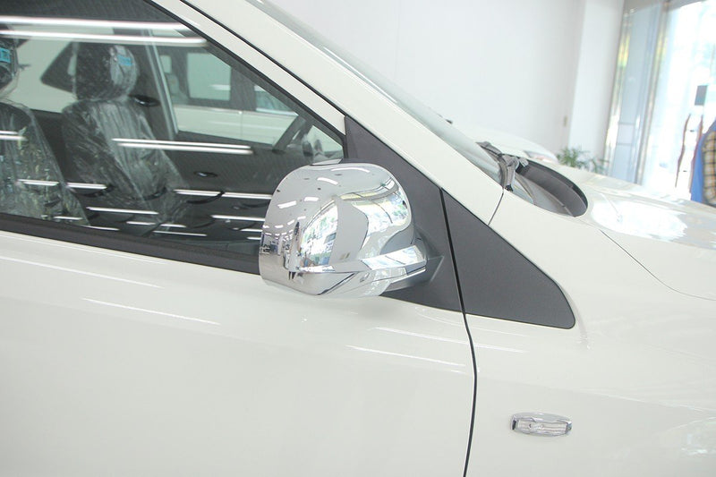 Auto Clover Chrome Wing Mirror Cover Trim Set for Ssangyong Kyron 2006 - 2011