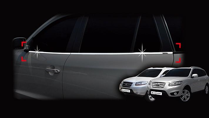 Auto Clover Chrome Side Window Frame Trim Cover for Hyundai Santa Fe 2007 - 2012