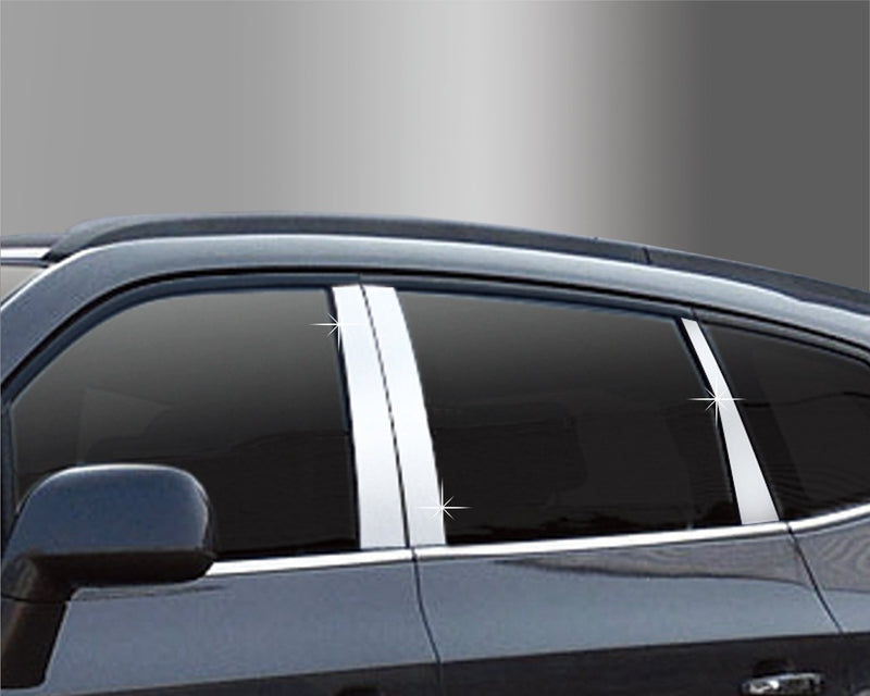 Auto Clover PVC Chrome B Pillar Sticker Trim Set for Chevrolet Orlando