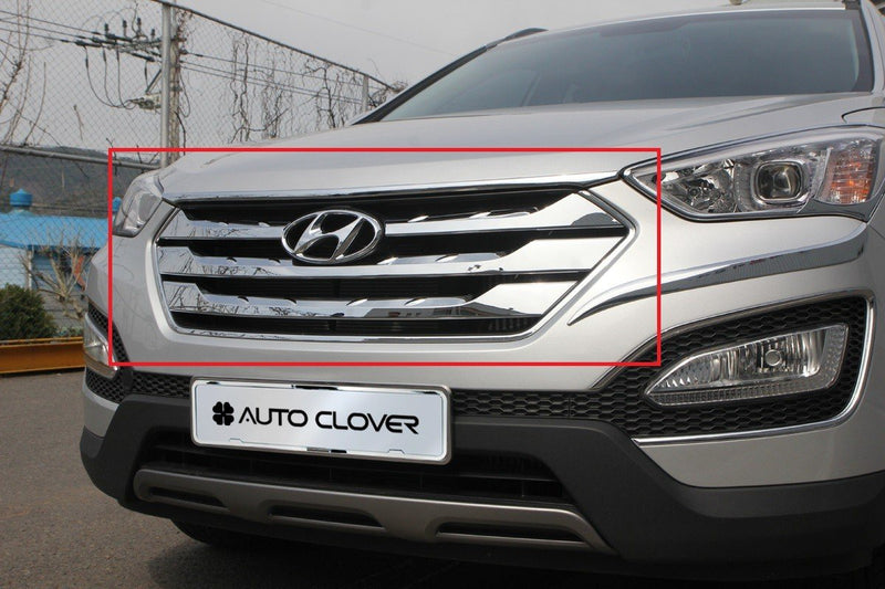 Auto Clover Chrome Grill Trim set for Hyundai Santa Fe 2013 - 2015