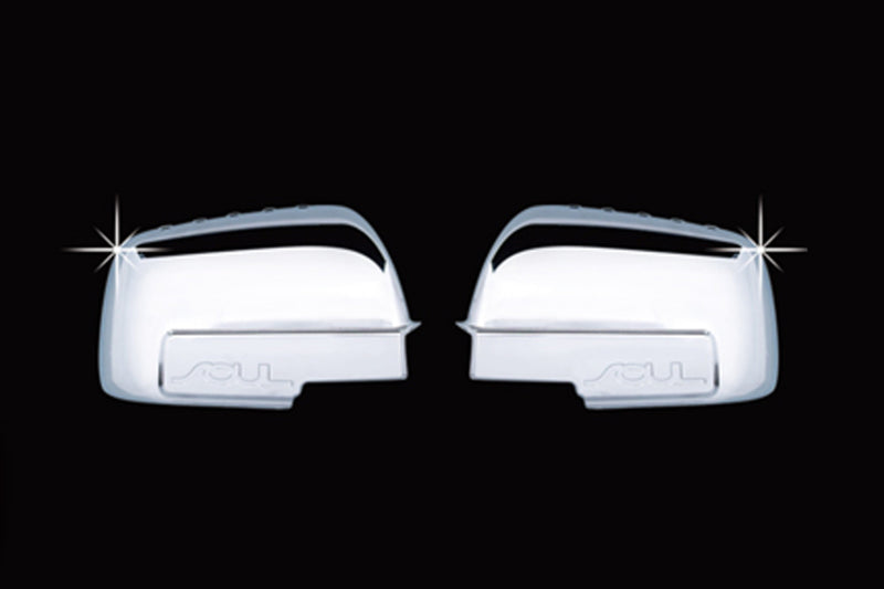 Auto Clover Chrome Wing Mirror Trim Set for Kia Soul 2009 - 2013