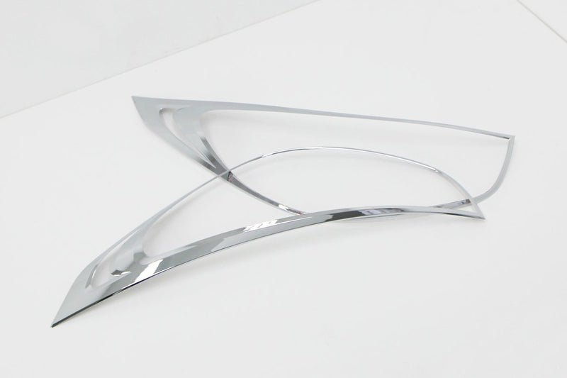Auto Clover Chrome Headlight Trim Set for Hyundai IX35 2010 - 2015 - TYPE 1