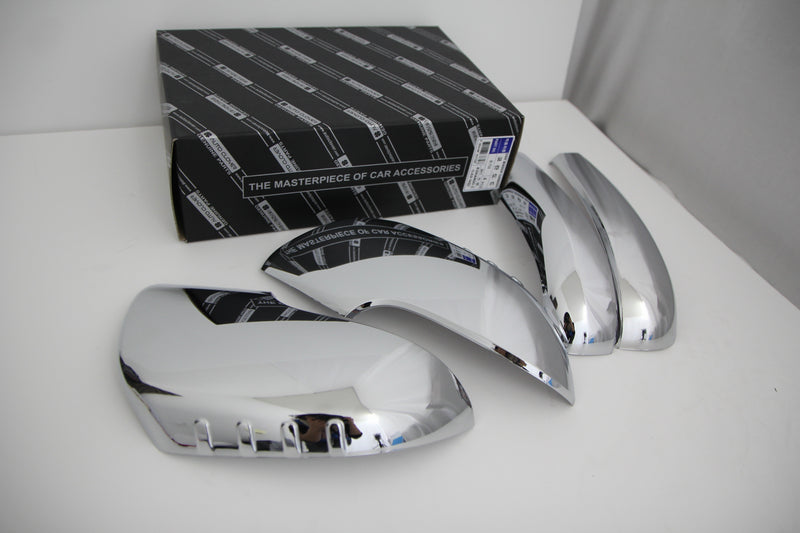 Auto Clover Chrome Wing Mirror Cover Trim Set for Ssangyong Korando C 2011 - 2019