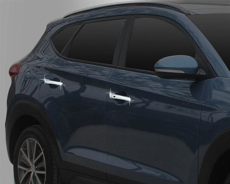 Auto Clover Chrome Door Handle Cover Trim Set for Hyundai Tucson 2015 - 2020