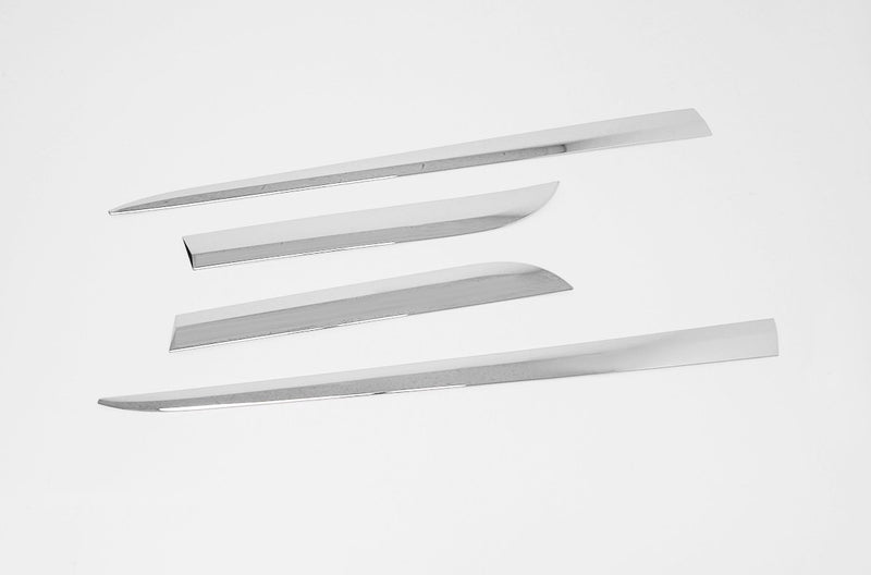 Auto Clover Chrome Side Skirt Door Trim Set for Mazda 2 2014+ MK4 5 Door