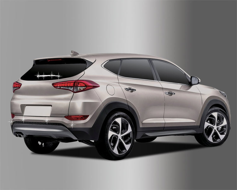 Auto Clover Chrome Rear Stying Trim Set for Hyundai Tucson 2015+