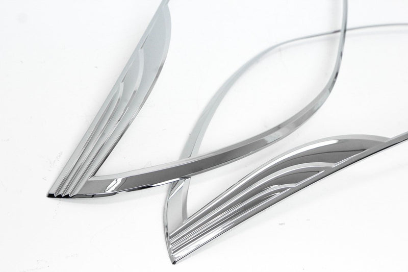 Auto Clover Chrome Headlight Surround Trim Set for Kia Rio 2012 - 2016