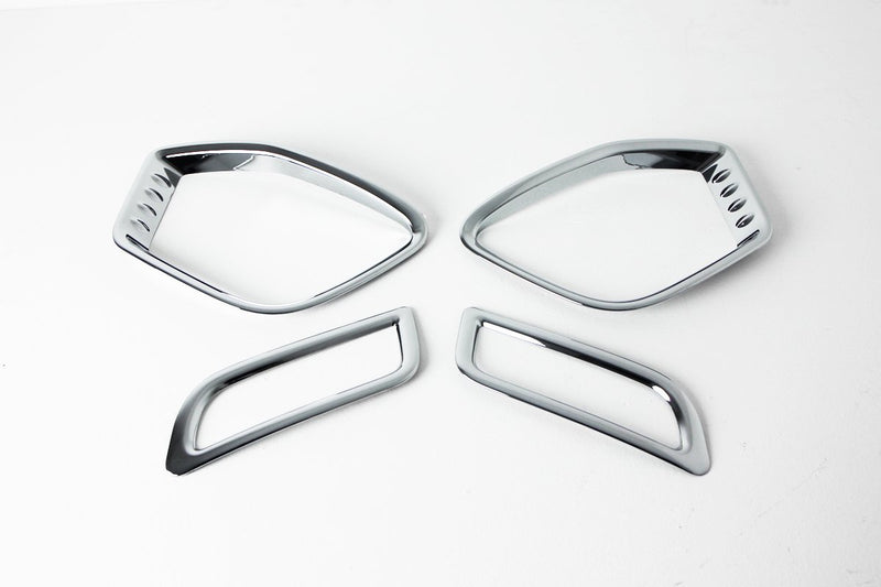 Auto Clover Chrome Fog Light Trim set for Ssangyong Korando Sports/Musso 2013-18
