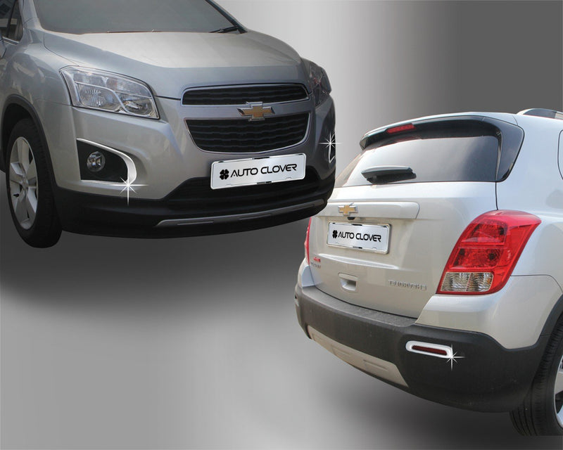 Auto Clover Chrome Front and Rear Fog Light Trim for Chevrolet Trax 2012 - 2016