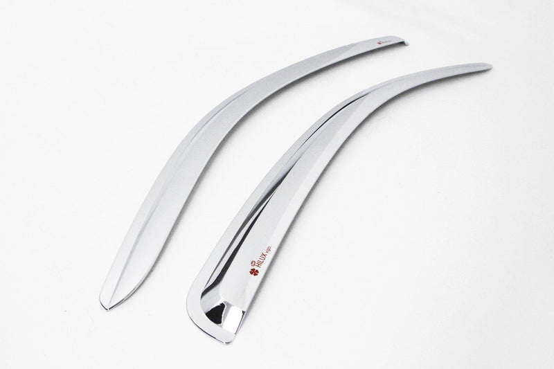Auto Clover Chrome Front Wind Deflectors for Toyota Hilux 2005 - 2015 (2 pieces)