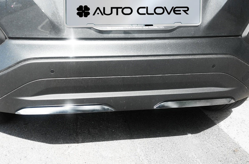 Auto Clover Chrome Front and Rear Bumper Trim Set for Hyundai Kona 2017+