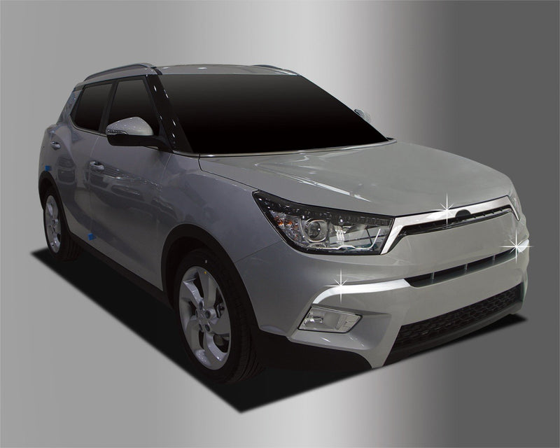 Auto Clover Chrome Front Bumper and Grille Trim Set for Ssangyong Tivoli 2014+