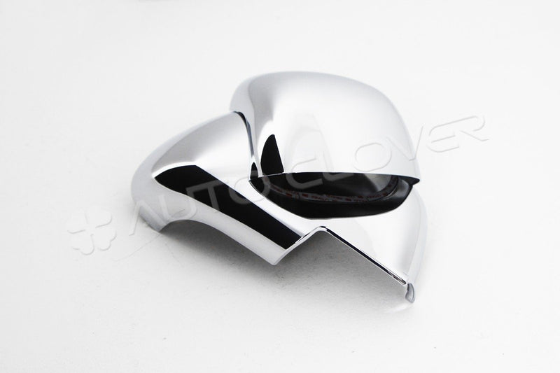 Auto Clover Chrome Wing Mirror Cover Trim Set for Nissan Micra MK4 2010 - 2016
