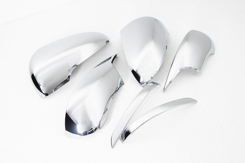 Auto Clover Chrome Wing Mirror Cover Trim Set for Kia Sorento 2015 - 2020