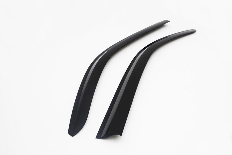 Auto Clover Front Wind Deflectors for Nissan Navara D40 2005 - 2015 Single Cab
