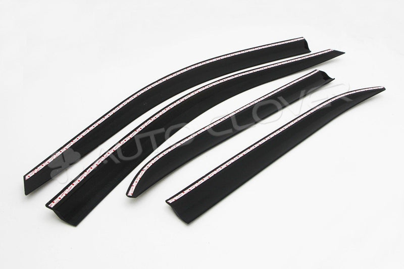 Auto Clover Wind Deflectors Set for Kia Stinger 2017+ (4 pieces)