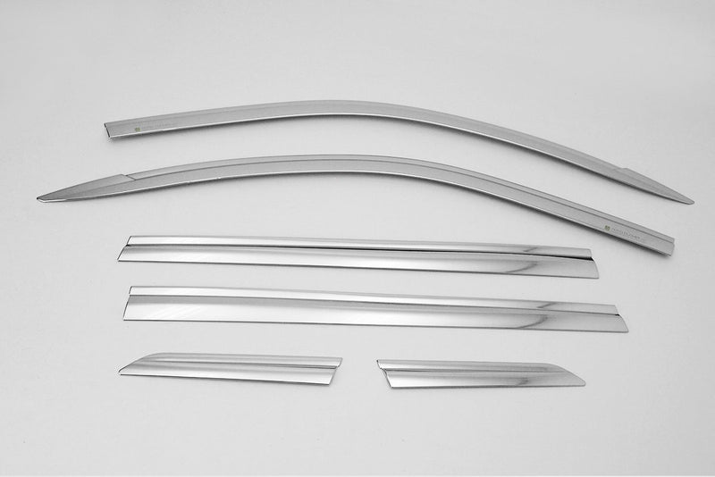 Auto Clover Chrome Wind Deflector Set for Ssangyong Rexton G4 2018+ (6 pieces)