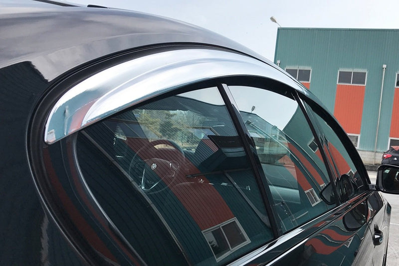 Auto Clover Chrome Wind Deflectors Set for BMW 5 Series Saloon G30 2017+ (4 pieces)