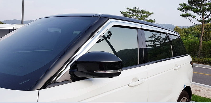 Auto Clover Chrome Wind Deflectors Set for Range Rover Sport 2013+ (6 pieces)
