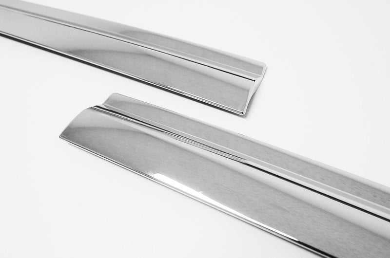 Auto Clover Chrome Wind Deflectors Set for Ssangyong Musso 2019+ (4 pieces)