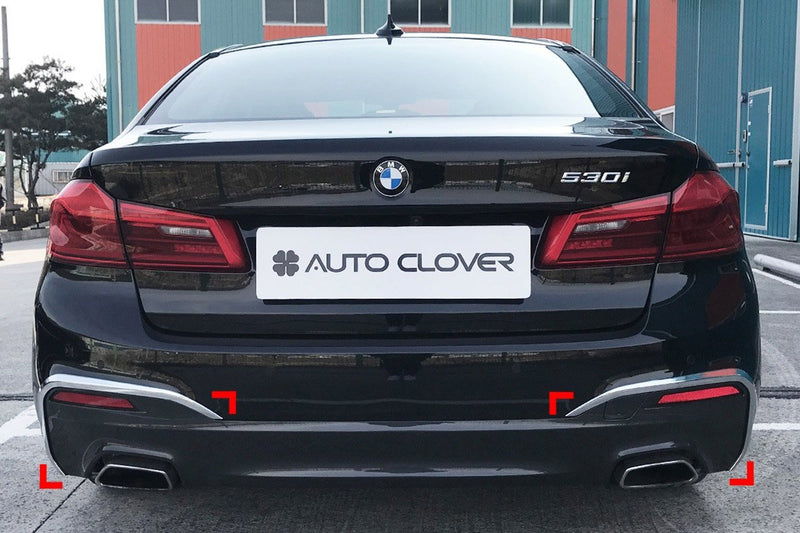 Auto Clover Chrome Front and Rear Bumper Trim Set for BMW 5 Series G30 2017+