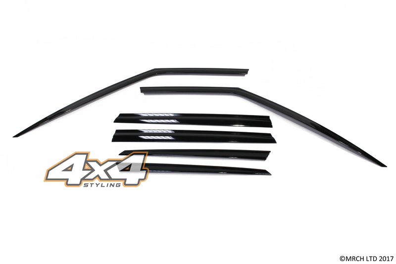 Auto Clover Premium Wind Deflectors Set for BMW X3 G01 2018+ (6 pieces)
