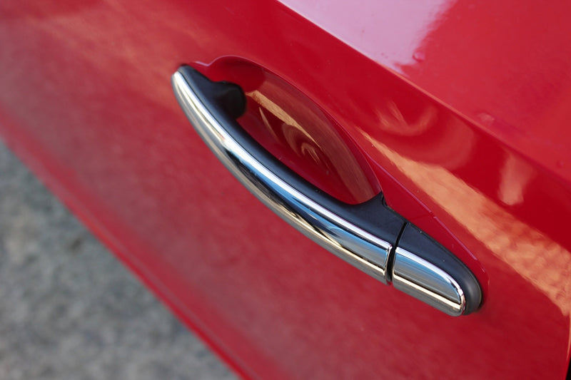 Auto Clover Chrome Door Handle Trim for Seat Ibiza MK 4 Polo MK 5 Skoda Fabia