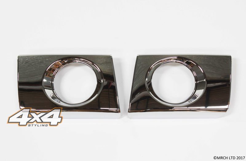 Auto Clover Chrome Fog Light Covers Surrounds Trim for Hyundai Tucson 2004-2010
