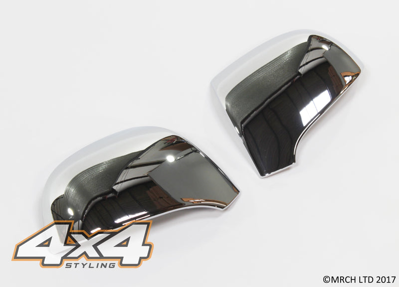 Auto Clover Chrome Wing Mirror Covers Trim Set for Kia Carens 2006 - 2012