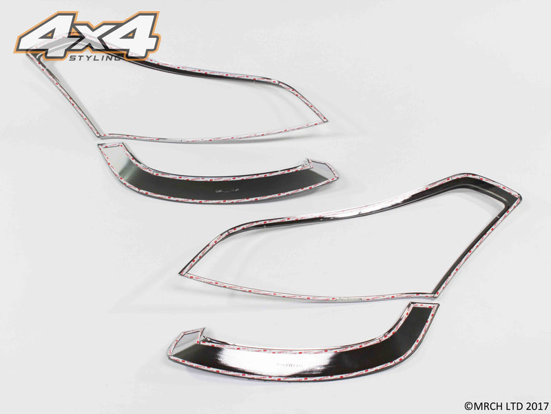 Auto Clover Chrome Headlight Surround Trim Set for Kia Soul 2009 - 2011