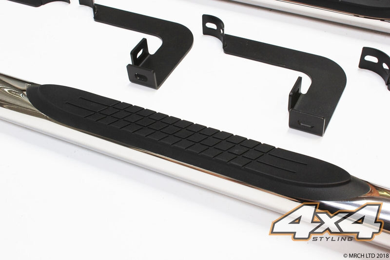 For Mitsubishi L200 2006 - 2015 T304 Stainless Steel Side Steps Bars 3""