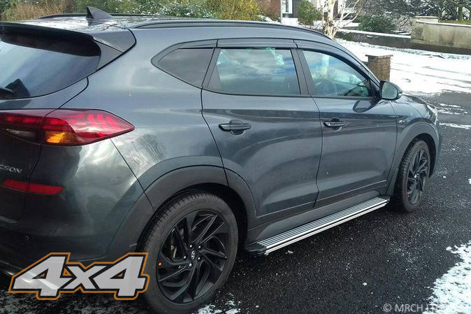 For Hyundai Tucson 2015 - 2020 Side Steps Running Boards Set - Type 4