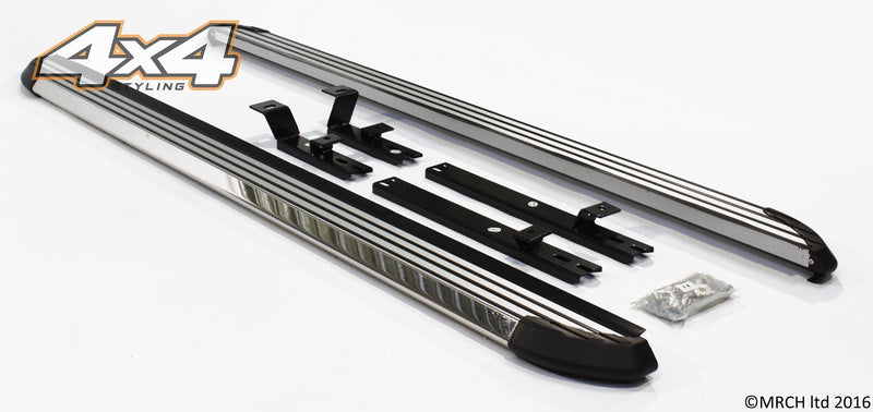 For Nissan X-Trail 2008 - 2013 Side Steps Running Boards Set Type 3