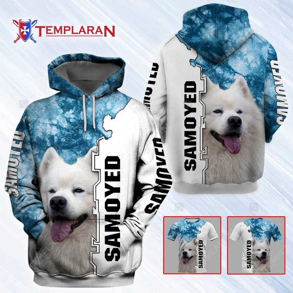 Samoyed Dog 3D Full Printing Hoodie and Unisex Tee