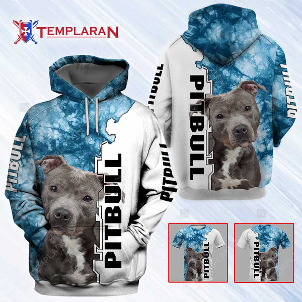 Pitbull Dog 3D Full Printing Hoodie and Unisex Tee