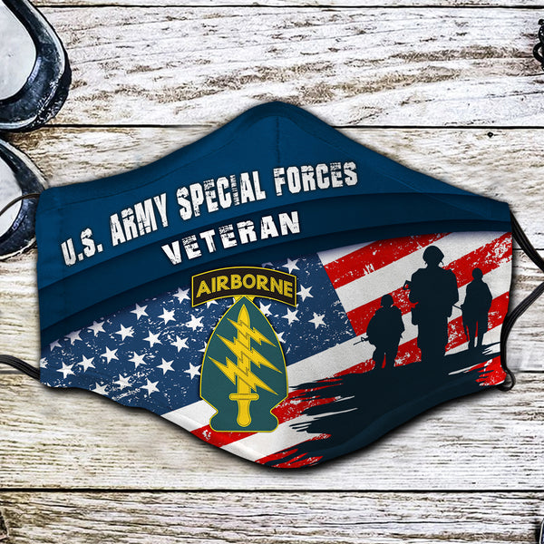 US Army Special Forces Veteran Fabric Face Mask