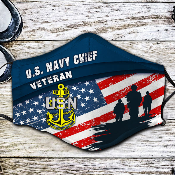 US Navy Chief Veteran Fabric Face Mask