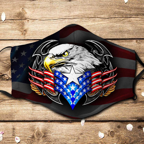 Eagle American Fabric Face Mask + Filters