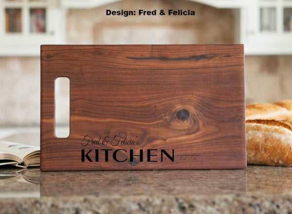 Corporate Gift Item - 11x17 Walnut Cutting Board