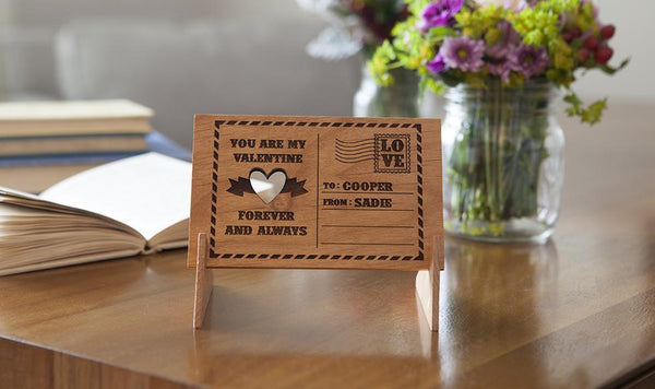 Corporate 5 Dollar Discount Page - Customized Engraved Wooden Postcards